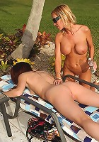 2 amazing super hot fucking naked milfs in a pool suck and get fucked in this pool boy fucking 3some amazing pic set