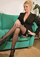 Classy mature lady in sexy lingerie