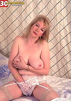 Chubby busty mature redhead getting drilled