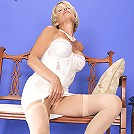 Perfect blonde milf babe sucking and fucking