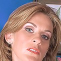 Mature secretary strips at the office