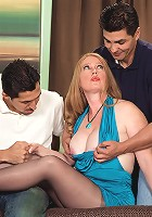 It's Heather's first time, and she's fucking two cocks!
