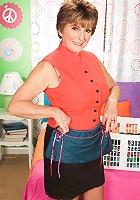 Bea Cummins in her granddaughter's closet