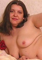 Nasty fat mature playing with her panties