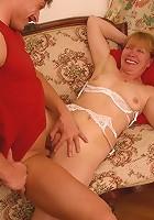 Sexy grandma gets a hard one down her poop chute