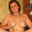 Hot milf with huge ripe jugs shows off on camera