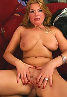 Mom with huge jugs takes cock up her pussy and ass