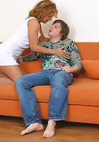 Mature cocksmoker pleasures a well-hung youngster