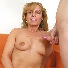 Hung boy finds a perfect mature slut for himself