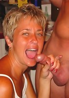 The wives suck and fuck at a fuck party