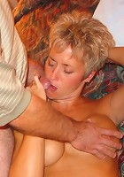 Hot blonde wife Tracy gets gangbanged (Special Double Black Video!!)