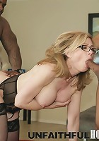 Nina Hartley with Rico Strong and Ethan Hunt