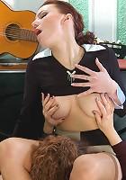 Esther&Marion lesbian mom fucks girl