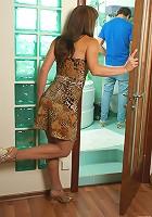 Martha&Vitas pantyhosefucking lascivious mature housewife