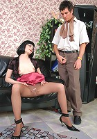Rita&Vitas pantyhosefucking horny mature gal