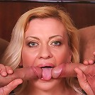 Hot GILF sucking on two stiff meat swords