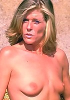 Mature Country Girl Posing and Undressing Outside