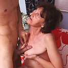 Stephanie is a sexy mature woman with flabby breasts that she loves to show off to seduce men