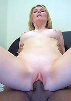 Cheating blonde wife Ashley spreading her pink cunt to take black cock pummeling