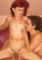 Pretty grannies Steph and Julianna enjoy equal turns in getting cock rammed by a horny younger guy