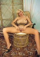 granny experimenting on her nice pussy