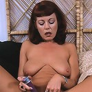 horny old babe takes on the biggest cock