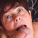 Sexy mature babe Simone gets intense cock thrusting in her snatch and nasty cum hosing