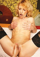 Hot horny babe fisting a horny housewife