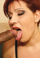 This mature slut loves her cock to be black
