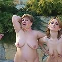 Two mature sluts get creampie