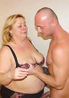 This big mature woman loves cock as much as food