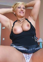 Horny big titted Teresa loves showing you her pleasure box