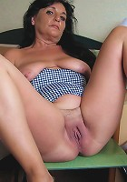 This lovely mature mama loves to play with toys