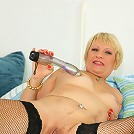 Lonely housewife playing with herself