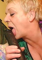 Kinky mature slut playing with a big toy