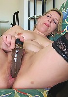 Kinky horny housewife playing with her toy