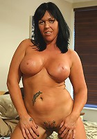 round and juicy mature beauty showing her stuff