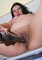 This naughty housewife gets herself wet and wild