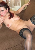 This naughty housewife loves to play with her wet pussy