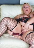 This big pierced mama loves to masturbate