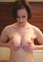 Horny housewife getting undressed and then some