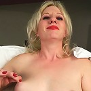 Horny Blonde MILF doing her best