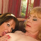 Four mature sluts getting it on with eachother