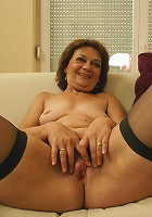 This mama loves to get wet on her couch