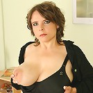 Big titted housewife playing with herself