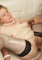 Two mature sluts sharing one hard throbbing cock