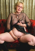 This mature slut loves to play on her couch
