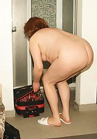 See naked women unwind in an all female mature sauna