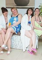 Take a lokk at an all female mature sauna