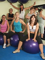 Get ready for another naked mature gymclass